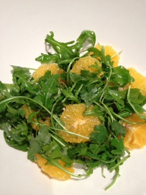 Leo goes Paleo rucola sinaasappel salade