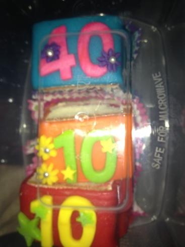 De taart die over 18 dagen opgepeuzeld gaat worden :-)